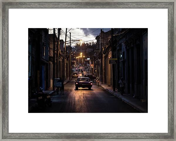 Nights Streets Of Matanzas Framed Print by Marco Tagliarino