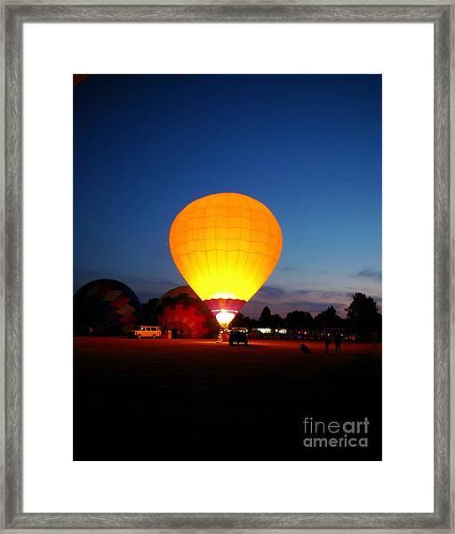Night's Sunshine Framed Print
