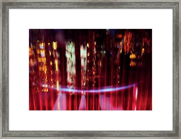 Nightscape Of Shanghai Framed Print