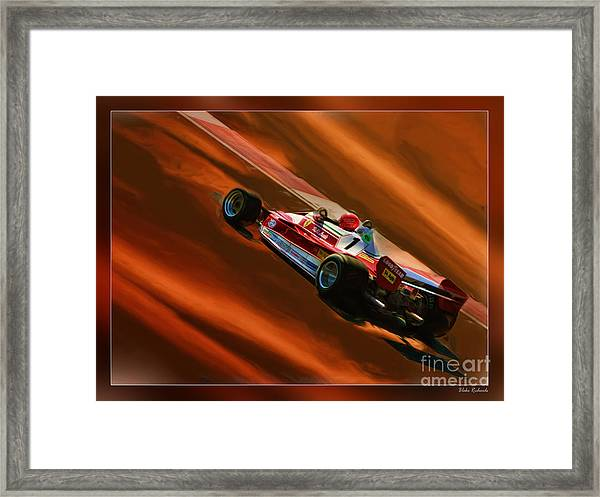 Niki Lauda's Ferrari Framed Print