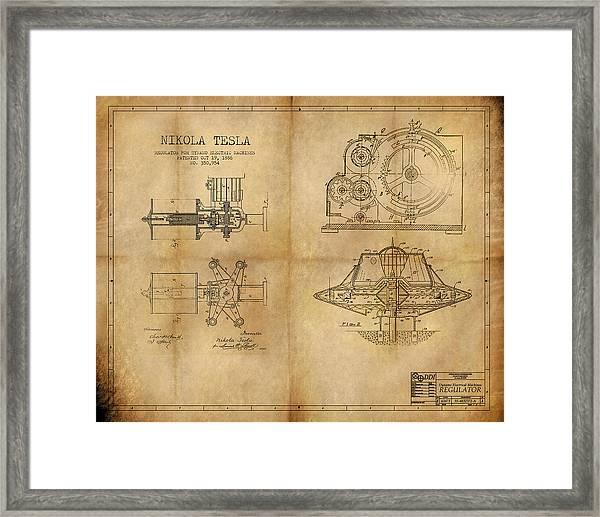 Nikola Telsa's Work Framed Print