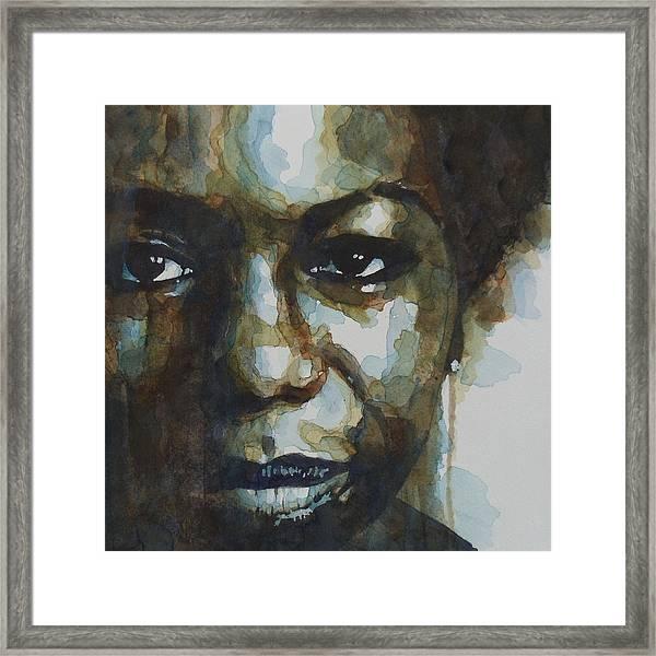 Nina Simone Ain't Got No Framed Print