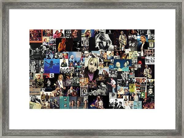 Nirvana Collage Framed Print
