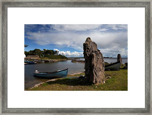 Nishmicatreer Island In Lough Corrib Framed Print