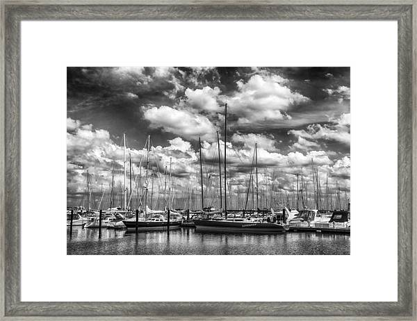 Nitemare On The Lake Framed Print
