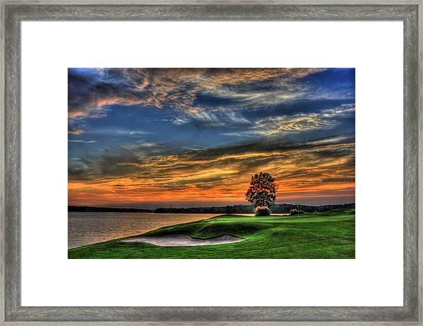 No Better Day Golf Landscape Art Framed Print