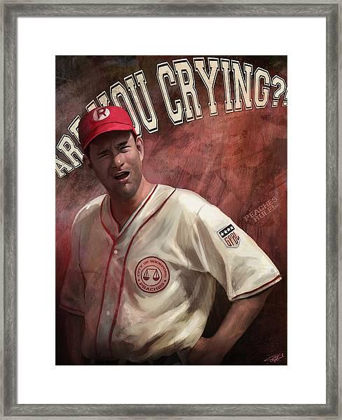 No Crying In Baseball Framed Print