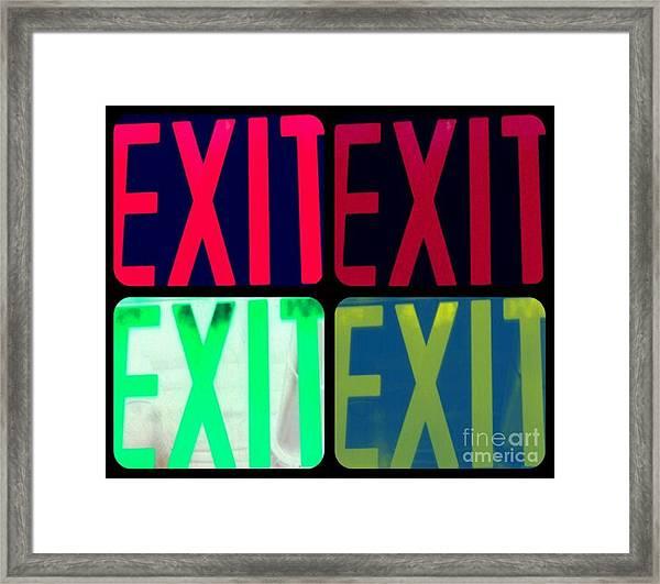 No Exit Framed Print