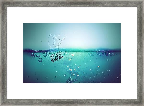 No Fun Water Framed Print