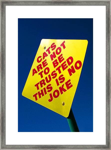 No Joke Framed Print