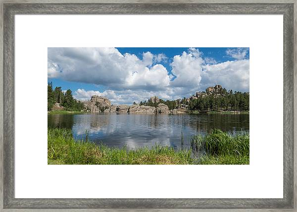 Framed Print featuring the photograph Sylvan Lake South Dakota by Patti Deters