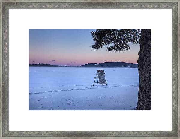 No Lifeguard Spofford Lake Framed Print