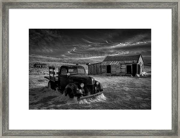 No More Gold... Framed Print