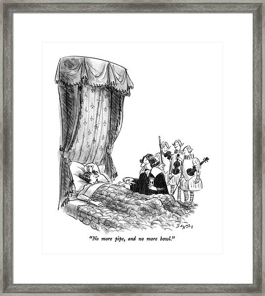 No More Pipe Framed Print