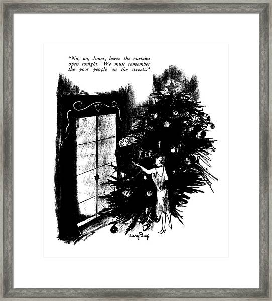 No, No, Jones, Leave The Curtains Open Tonight Framed Print