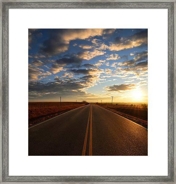 No-passing Framed Print