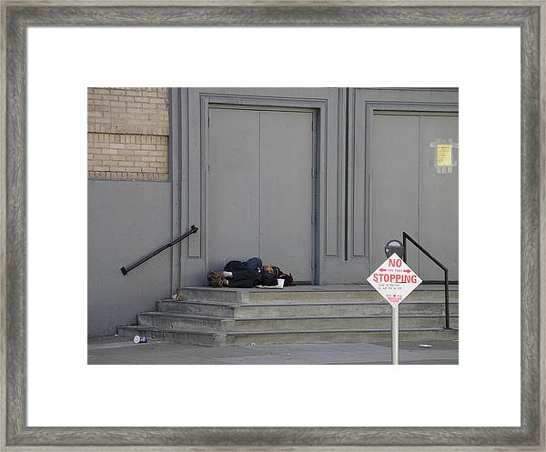 No Stopping Framed Print