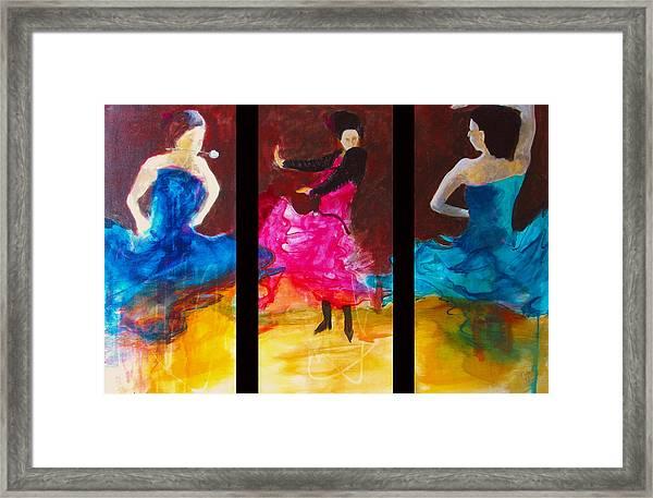 No Volre  Triptych Framed Print
