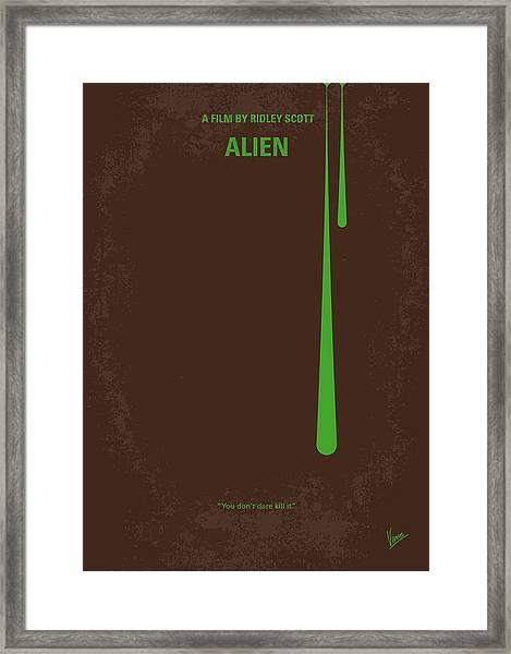 No004 My Alien Minimal Movie Poster Framed Print