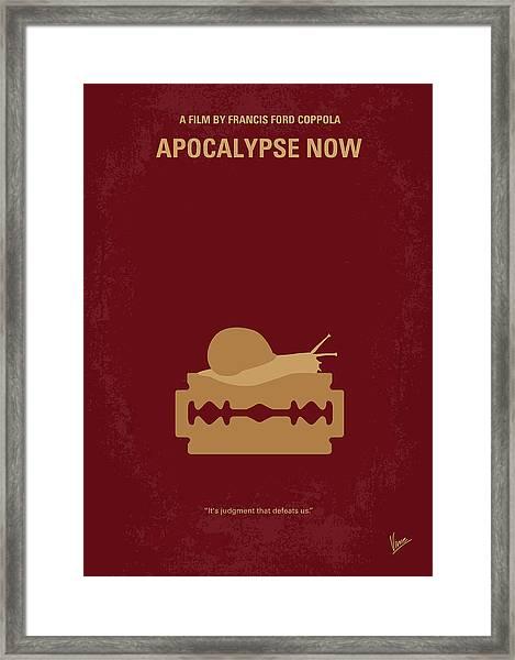 No006 My Apocalypse Now Minimal Movie Poster Framed Print