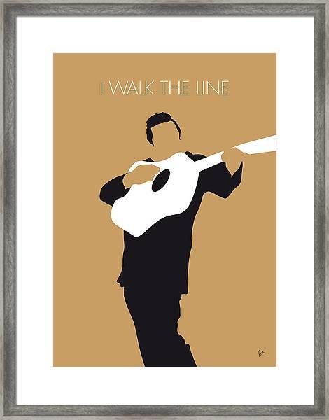 No010 My Johnny Cash Minimal Music Poster Framed Print