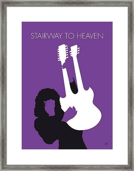 No011 My Led Zeppelin Minimal Music Poster Framed Print