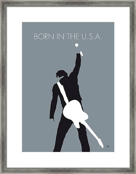 No017 My Bruce Springsteen Minimal Music Poster Framed Print