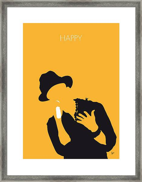 No034 My Pharrell Williams Minimal Music Poster Framed Print