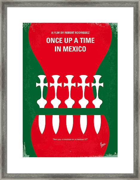 No058 My Once Upon A Time In Mexico Minimal Movie Poster Framed Print