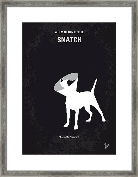 No079 My Snatch Minimal Movie Poster Framed Print