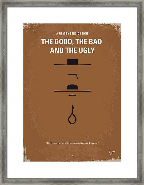 No090 My The Good The Bad The Ugly Minimal Movie Poster Framed Print