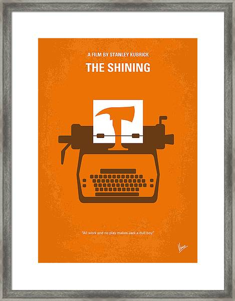No094 My The Shining Minimal Movie Poster Framed Print