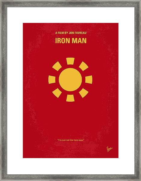 No113 My Iron Man Minimal Movie Poster Framed Print