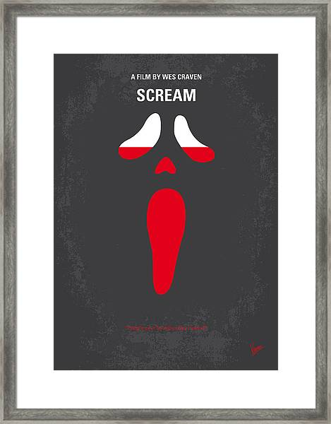 No121 My Scream Minimal Movie Poster Framed Print