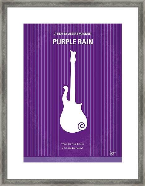 No124 My Purple Rain Minimal Movie Poster Framed Print