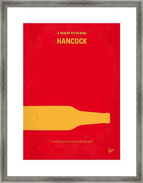 No129 My Hancock Minimal Movie Poster Framed Print