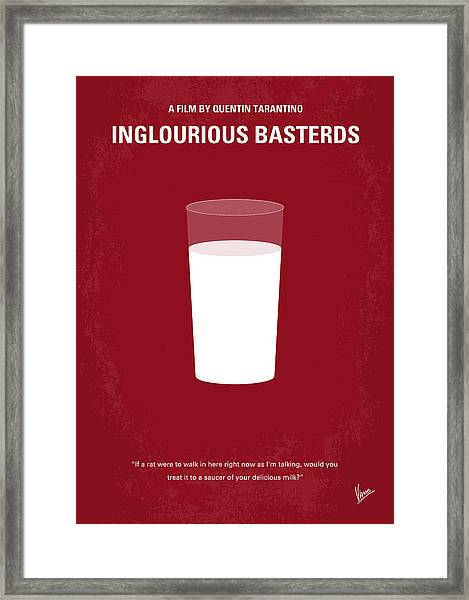No138 My Inglourious Basterds Minimal Movie Poster Framed Print