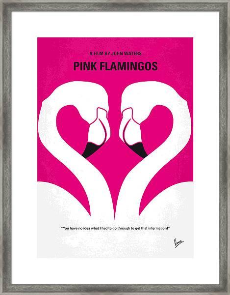 No142 My Pink Flamingos Minimal Movie Poster Framed Print
