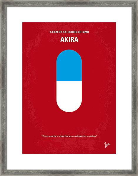No144 My Akira Minimal Movie Poster Framed Print