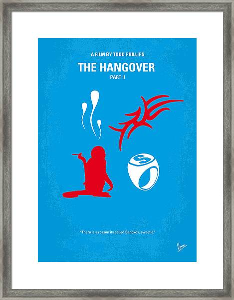 No145 My The Hangover Part 2 Minimal Movie Poster Framed Print