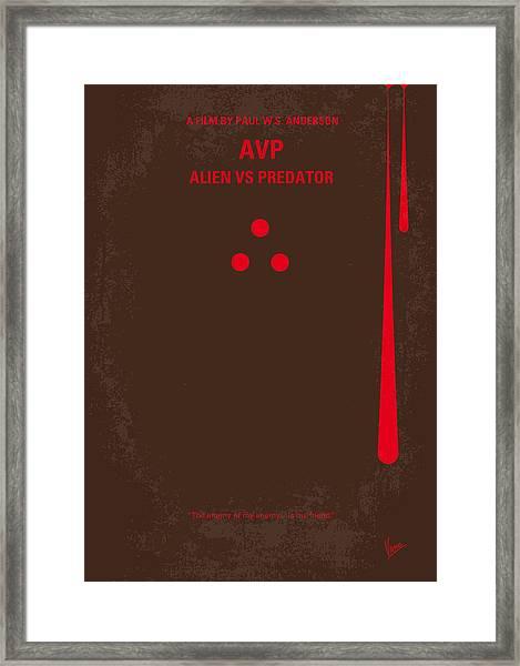 No148 My Avp Minimal Movie Poster Framed Print
