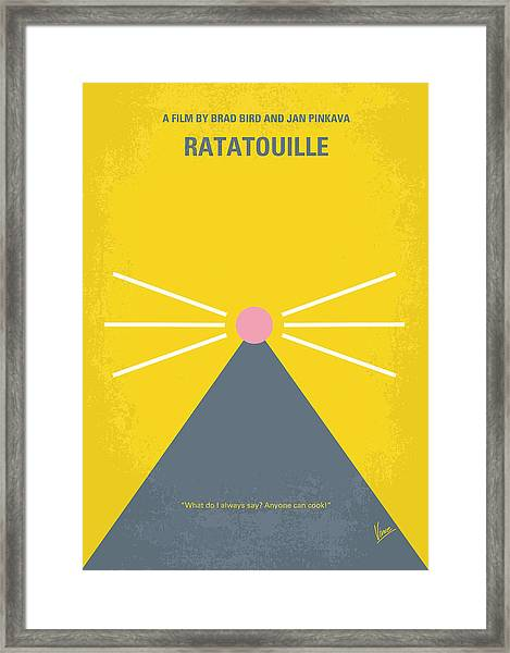 No163 My Ratatouille Minimal Movie Poster  Framed Print
