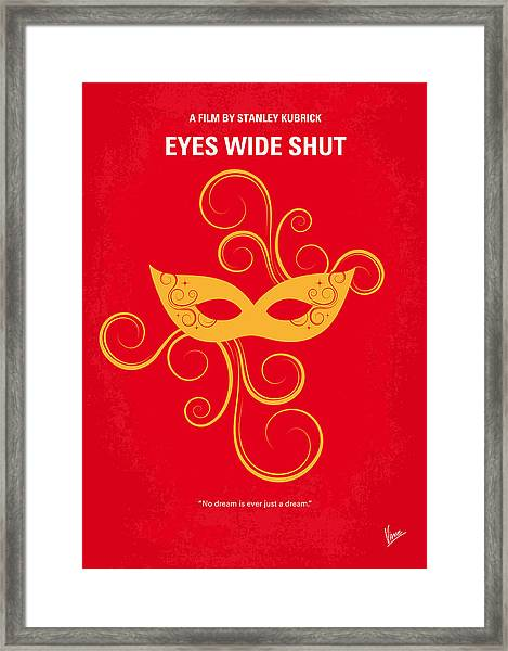 No164 My Eyes Wide Shut Minimal Movie Poster Framed Print