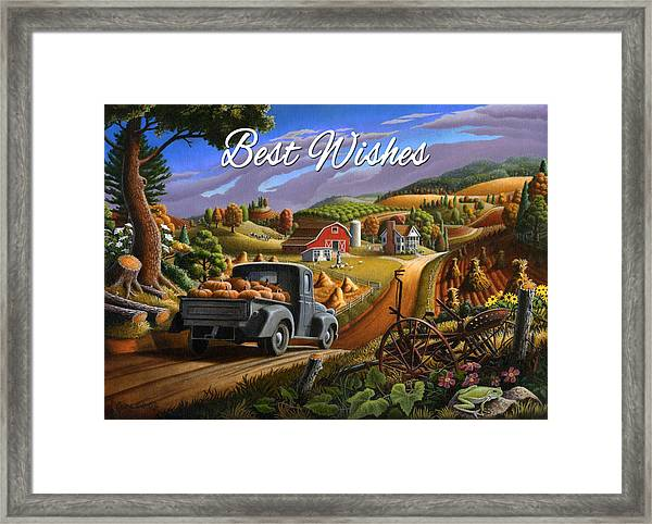 no17 Best Wishes Framed Print by Walt Curlee