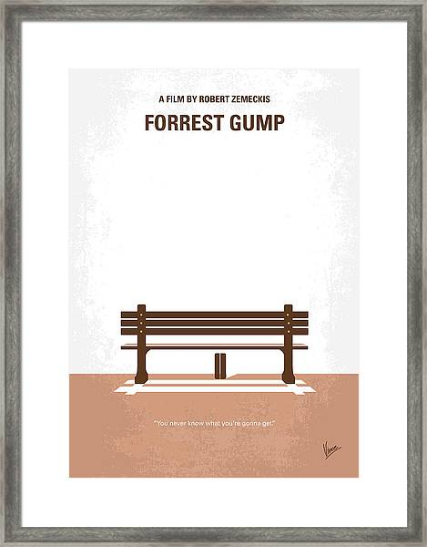 No193 My Forrest Gump Minimal Movie Poster Framed Print