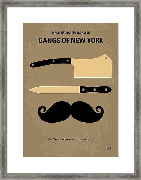 No195 My Gangs Of New York Minimal Movie Poster Framed Print