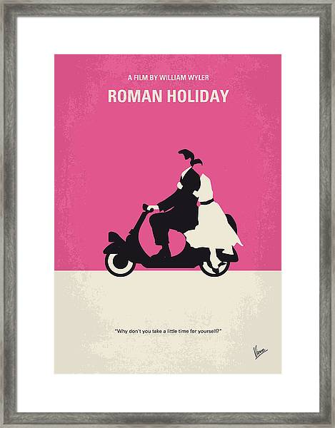 No205 My Roman Holiday Minimal Movie Poster Framed Print