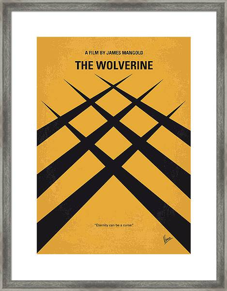No222 My Wolverine Minimal Movie Poster Framed Print