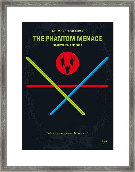 No223 My Star Wars Episode I The Phantom Menace Minimal Movie Poster Framed Print