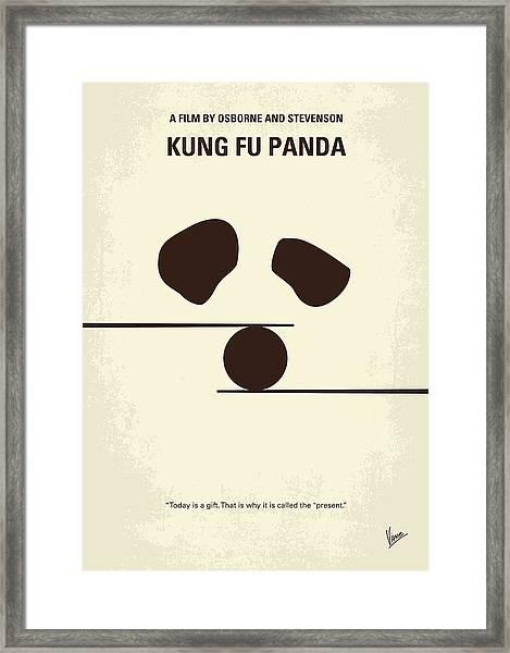 No227 My Kung Fu Panda Minimal Movie Poster Framed Print